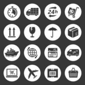 Shipping and delivery icons — Stock Vector