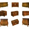 Antique furniture isolated on white. 3D image — Stock fotografie