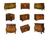 Antike möbel, isoliert auf weiss. 3d-bild — Stockfoto
