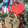 Heart shaped padlocks — Stock Photo #17360055