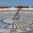 Stock Photo: Sundial on waterfront