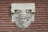 Mascaron. Relief — Stockfoto