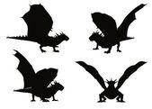 Dragon. Vector illustration — Stock Vector