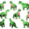 Cute dinosaur set — Stock Photo