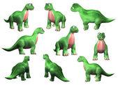 Cute dinosaur set — Stock Photo