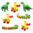 Set of children's toys - Stock Photo
