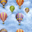 Colorful balloons in the sky. Seamless pattern  — Stock Photo
