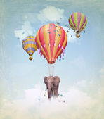 Elephant in the sky — Stock Photo