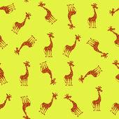 Bezešvé vzor s roztomilá žirafa — Stock fotografie