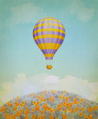 Baloon in the sky. Illustration — Stock Photo
