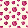 Stock Photo: Red hearts - seamless pattern