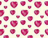 Kırmızı kalpler - dikişsiz desen — Stok fotoğraf