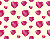 Red hearts - seamless pattern — 图库照片