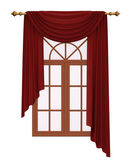 Window with luxury red curtain — Stock Photo