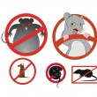 Vector de stock : No rats