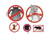 Geen ratten — Stockvector