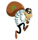 Cartoon thief — Stock Vector