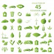 Stock Vector: Ecological icons