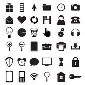 Black icons set — Stockvektor