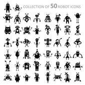 Robot icons — Stock Vector