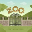 Stock Vector: Zoo garden