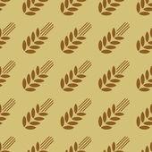 Modello senza saldatura con grano — Vettoriale Stock
