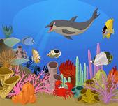Sea world — Stock Vector
