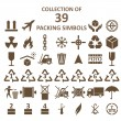 Collection of packing simbols — Vector de stock