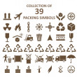 Collection of packing simbols — Wektor stockowy