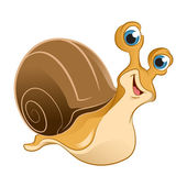 Cartoon Snail — Stock Vector