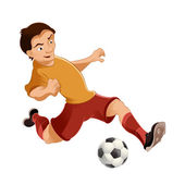 Soccer player — Stock Vector