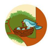 Bird's nest — Stockvektor