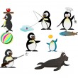 Penguin character — Stock Vector