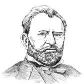 portraits of Ulysses S. Grant  — Vetorial Stock