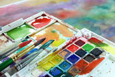 Watercolor paintbox — Stock Photo