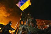 Street protest in Kiev — Stock Photo