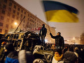 Street protest in Kiev — Stock Photo