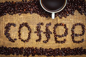 Inscription coffee — Stock Photo
