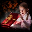 Magical christmas gift — Stock Photo