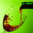 Fill a glass of wine — Stock Photo