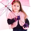 Stock Photo: Little girl with umbrella