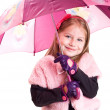 Little girl with umbrella — Stock Photo #16915995