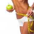 Healthy fitness and eating lifestyle concept. Isolated white background — Stock Photo #25219767