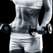 Stockfoto: Body of young fit woman