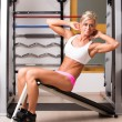 Woman exercising abdomen muscles  — Stock Photo
