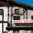 Gruss Gottingen-subscribed, the old Austrian house — Stock Photo