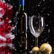 Bottle of christmas wine — Stock Photo
