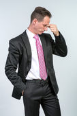 Businessman headache — Stock Photo