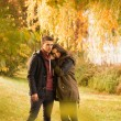 Couple in autumn park — Foto de stock #33758741