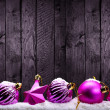 Purple Christmas decorations — Stock Photo